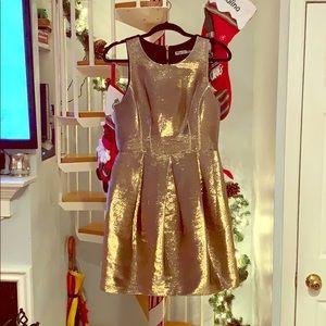Eliza J Gold Dress